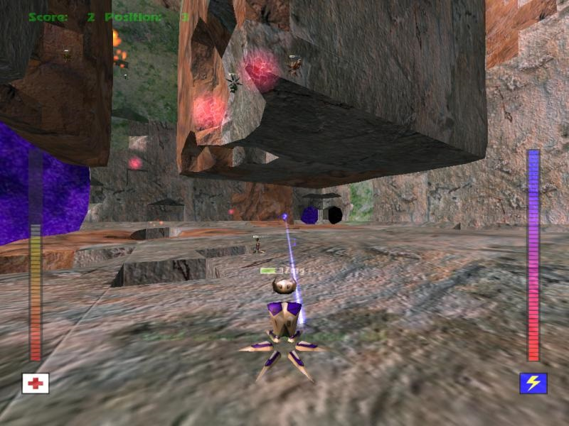 Avoyd 1999 v1.5 screenshot Cube world destruction LAN multiplayer