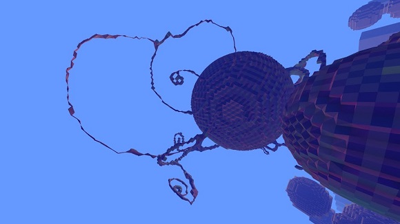 Avoyd voxel game prototype screenshot - Testing the constrained morphing voxels