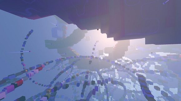 Avoyd voxel game prototype screenshot - Atmosphere tests