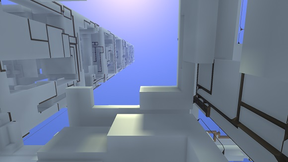 Procedural generation in Avoyd: hollowing greebled boxes