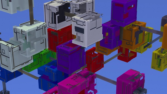 Procedural generation in Avoyd: introducing colours