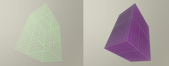 Axis Aligned Bounding Box filled with voxels