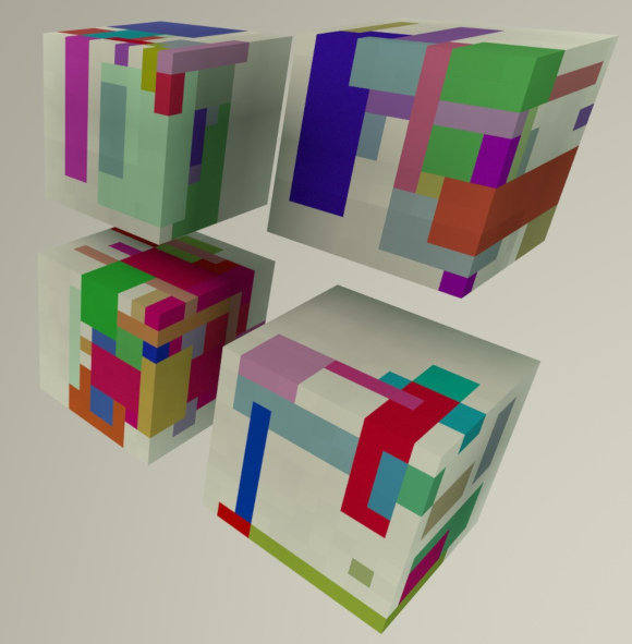 Procedurally coloured boxes