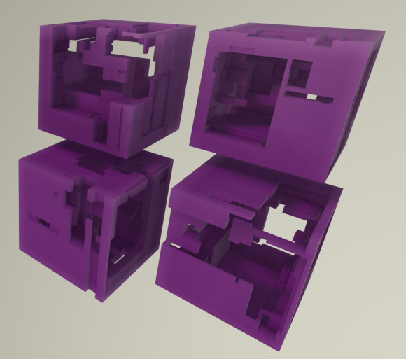Procedurally hollowed boxes
