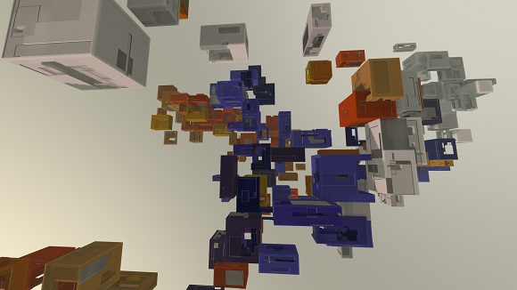 Procedural boxes clustered by colour palette
