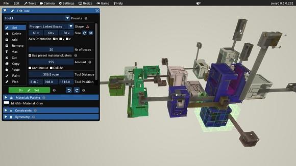 Avoyd voxel editor procedural generation tool