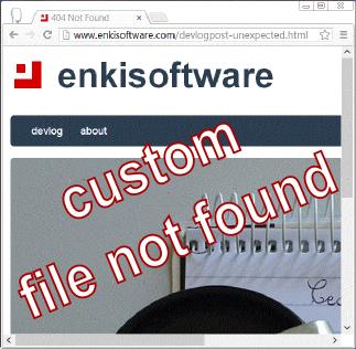 url handling: custom page not found